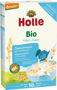 Bio Kaszka Junior muesli z corn flakes 10m+ Holle