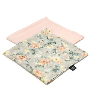 2 Pack Pieluszka 100% Bamboo Muslin  Blooming Boutique & Powder Pink La Millou
