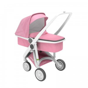 Wózek Greentom Carrycot White-Pink