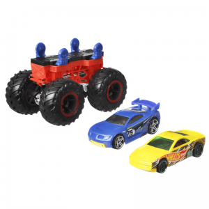 Monster Trucks Pojazd Maker Bone czerwony 3+ Hot Wheels
