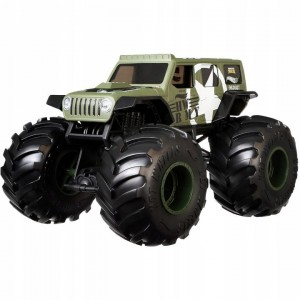 Monster Trucks Jeep  Army 3+ Hot Wheels