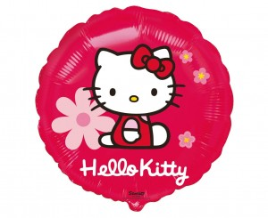 Balon foliowy Hello Kitty z kwiatkami Godan