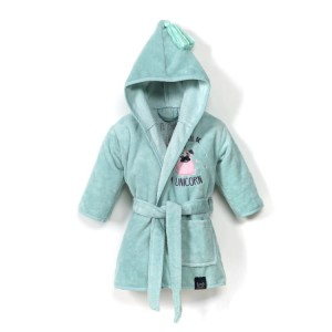 Szlafrok bamboo soft small mint doggy unicorn La Millou