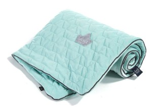 Velvet Collection Kocyk 110x140 Audrey Mint & Grey La Millou