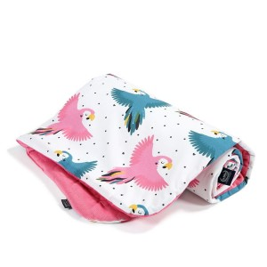 Velvet Collection kocyk średniaka Candy Parrot Florida Pink La Millou