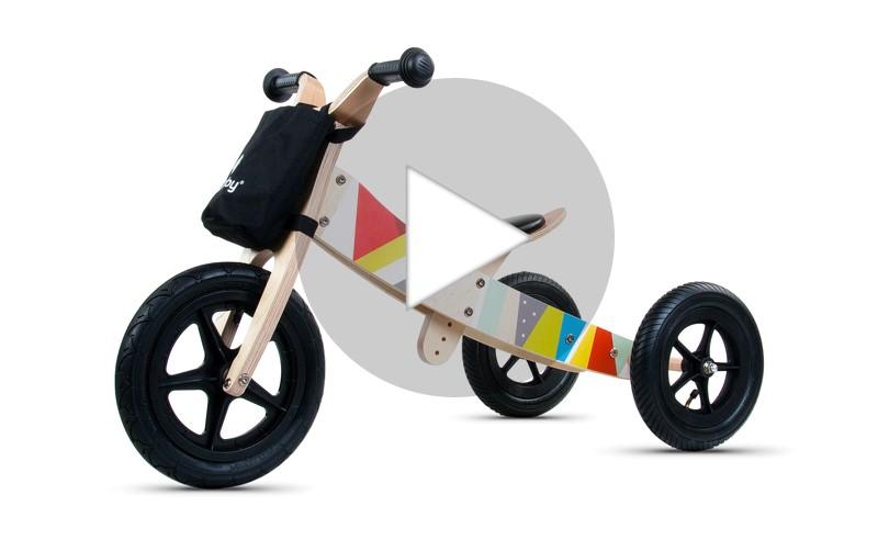 Rowerek biegowy Twist - funkcje film
