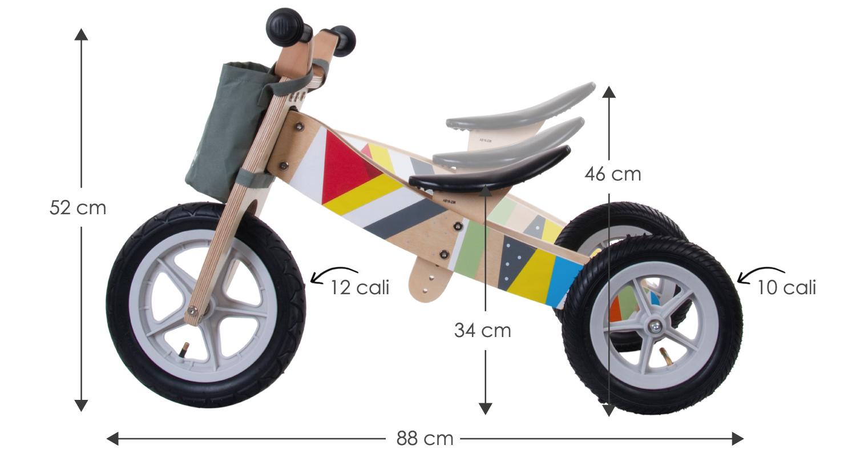 Rowerek biegowy twist - trójkołowiec
