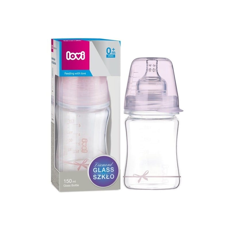 Butelka szklana Diamond Glass 150 ml Baby Shower Girl Lovi.jpg